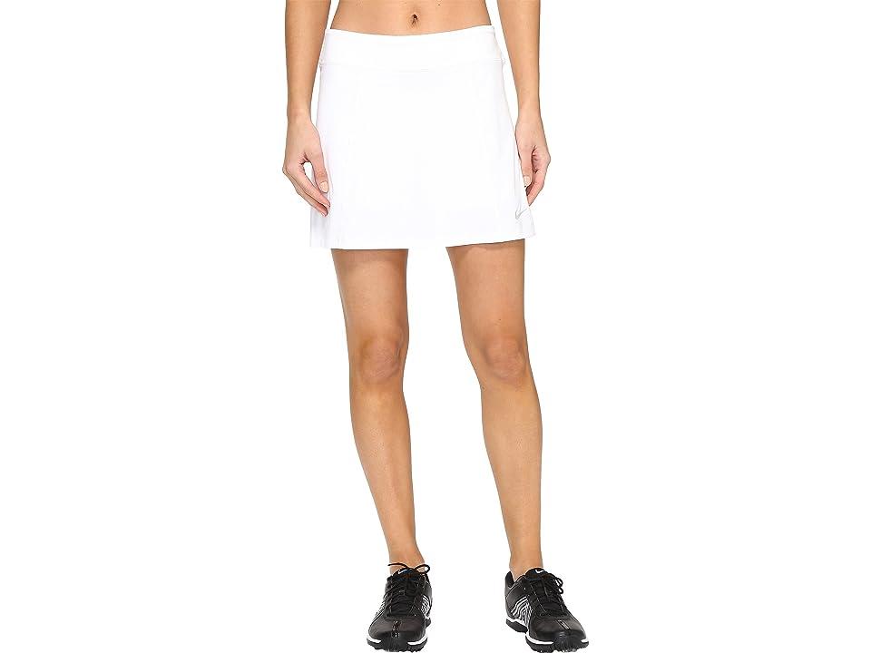 Nike Golf 14.5 Solid Knit Skort (White/Metallic Silver) Women