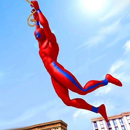 Super Flying Speed Rope Hero: Crime City Rescue Simulator