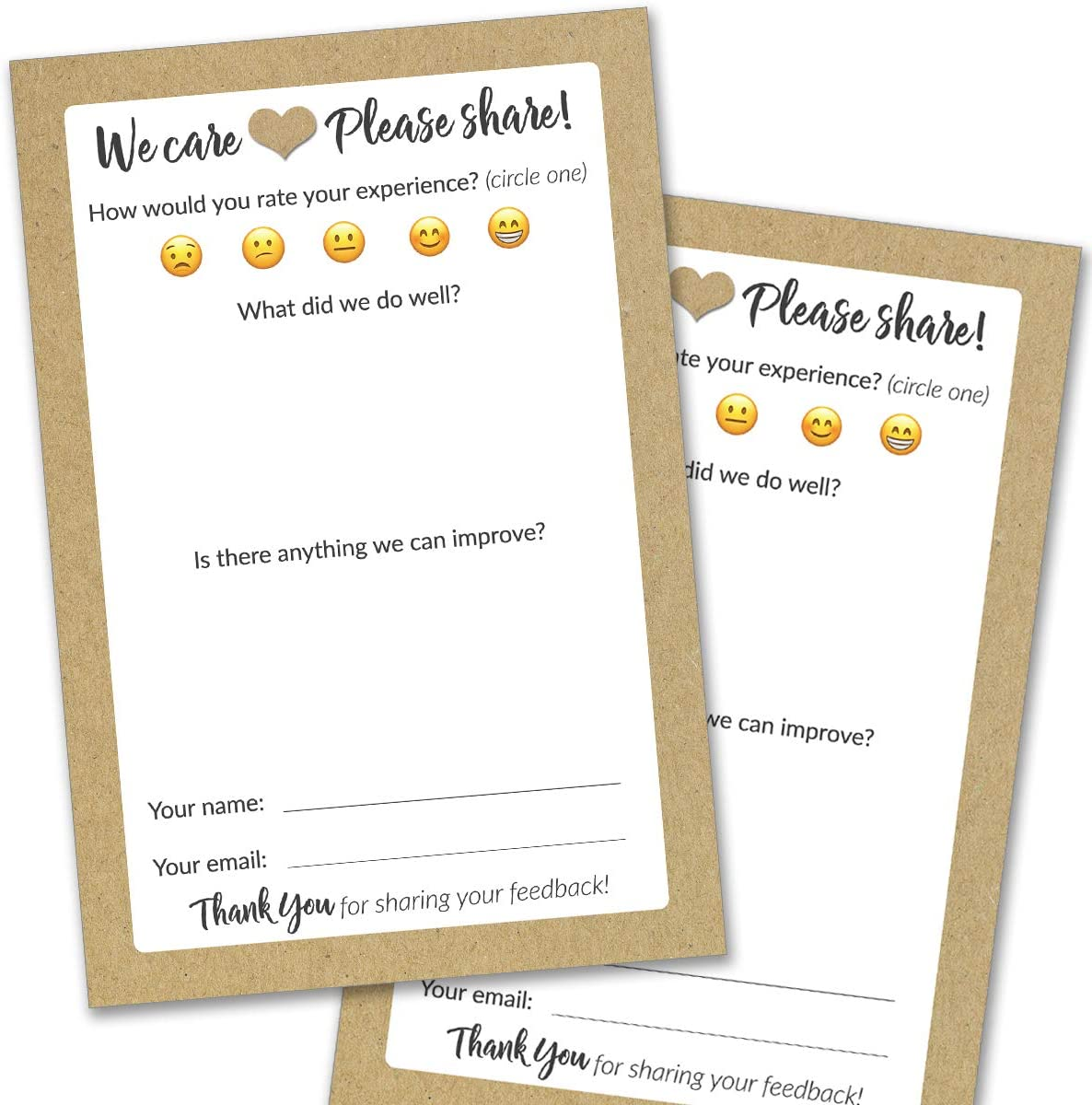 50 Spasm price Suggestion low-pricing Box Cards - Rustic Comment Restaurant for B