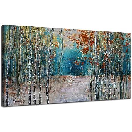 Birch Trees on White Canvas Wall Art Print Tree Home Decor