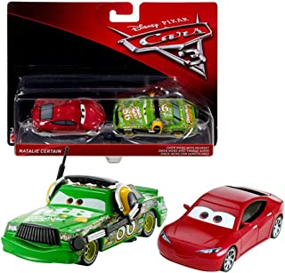 Disney Selección Modelos Doble Pack Cars 3 | Cast 1:55 Vehículos | Mattel, Cars Doppelpacks 2017:Natalie Certain & Chick Hicks Headset
