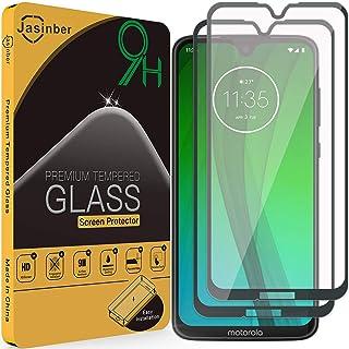 Jasinber 2-Pack Mica Vidrio Cristal Templado Protector de Pantalla para Motorola Moto G7 / G7 Plus (Negro)
