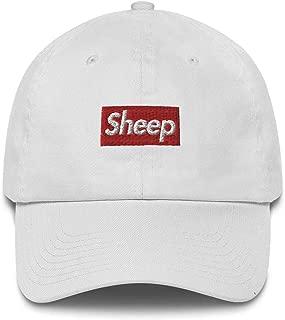 Sheep Box Logo Made in USA Cotton dad Hat Cap - Supreme Box Logo Inspired