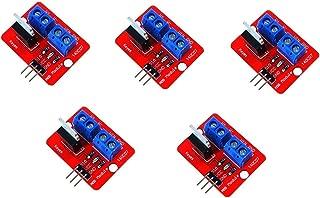 ESjasnyfall Rojo y Azul Bot/ón 0-24V Top Mosfet IRF520 Mos Controlador de la Placa del m/ódulo para Arduino MCU Arm Frambuesa Pi electr/ónico Herramienta de Bricolaje atenuadores de LED