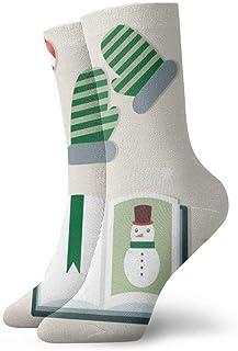 QQOP, N/A NA Calcetines de Vestir para Hombre, diseño navideño Divertido, poliéster