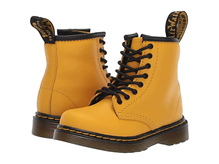 Dr. Martens Kids Collection  1460 Brooklee Boot (Toddler) (Yellow Romario) Kids Shoes