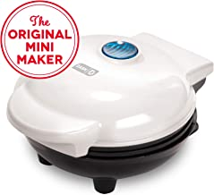 Dash DMG001WH Mini Maker Portable Grill Machine + Panini Press for Gourmet Burgers,..