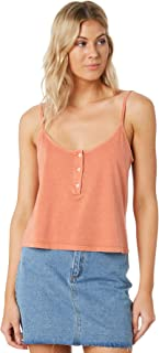 All About Eve Women's Button Up Cami Sleeveless