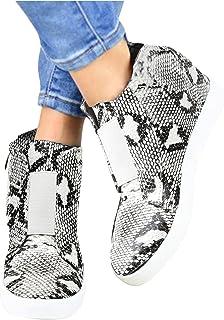 Geilisungren Damen Freizeitschuhe Pumps Keilabsatz Schuhe mit Plateau Weicher Boden Bequeme Sneakers Vintage Keilpumps Röm...