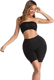BIMEI 2PS Sponge Padded Womens Butt Lifter Shapewear Butt Shaper Boxer Padded Enhancing Underwear Tummy Control (4XL, Low Waist Black)