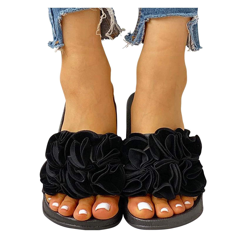 Topics on TV Reokoou 25% OFF Women's Comfort Slide Sandal Casual Flo Slip-On Platform