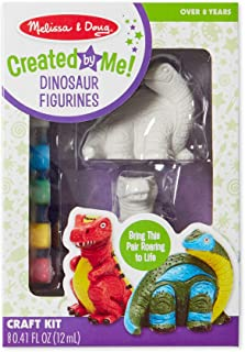 Melissa & Doug Decorate Your Own Dinosaur Figurines (All-Inclusive Art Set, Ready to Decorate, 6 Pots of Paint and Paintbrushes, Great Gift for Girls and Boys - Best for 8, 9, 10 Year Olds and Up)