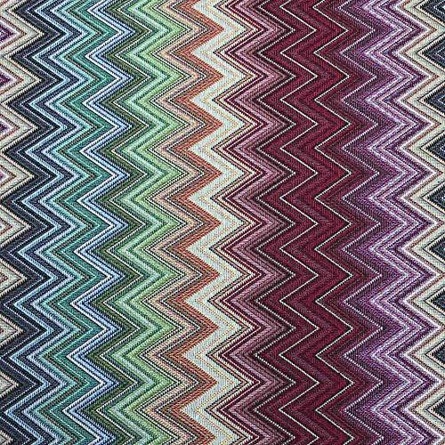 Kt KILOtela Tela por Metros de tapicería - Jacquard Gobelino - Ancho 280 cm - Largo a elección de 50 en 50 cm   Zig Zag - Multicolor
