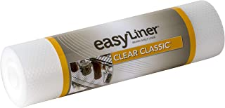 Duck Brand Clear Classic Easy 286230 Non-Adhesive Shelf Liner, 12-inch W x 20-Foot L Roll