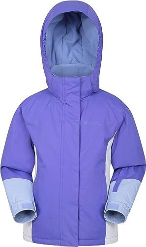 Mountain Warehouse Chaqueta de esquí Honey para niños - Chaqueta Impermeable a la Nieve para niños, puños Ajustables,...