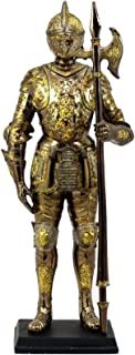 Ebros Medieval Lion Halberdier Knight of Heraldry Figurine 8.75