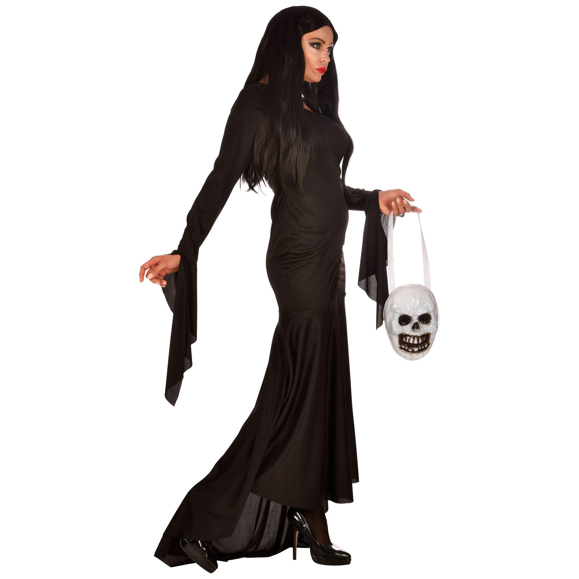 WIDMANN 01873 - Disfraz de Morticia para mujer, color negro, talla ...