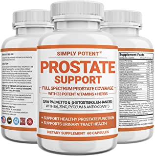 Prostate Supplements for Men, Saw Palmetto Prostate Health Support Enhanced with 33 Vitamins & Herbs – Beta Sitosterol Plu...