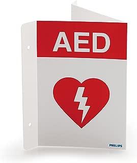 Philips HeartStart AED Defibrillator Wall Sign