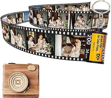 Custom Photo Album, Camera Film Roll Keychain Personalized Photos Romantic Gift Design Your Own Now-for Girlfriend Boyfriend