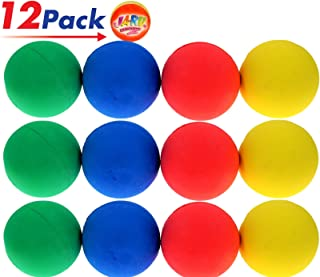 Rubber Bouncy Ball Colors Style (Pack of 12) 2.5