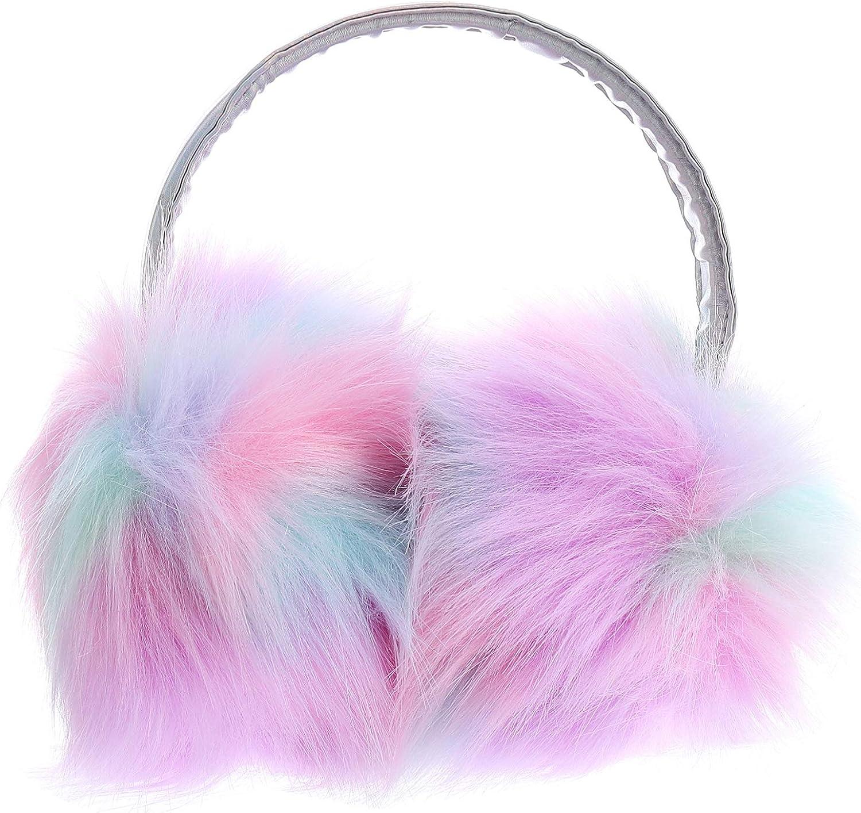 OSALADI 1 Pc Soft Plush Earmuff Multicolor Ear Warmers Winter Ear Muffs for Women Girls