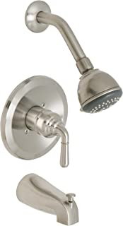 Huntington Brass 63630-72 Single-Handle Tub and Shower Faucet, Satin Nickel