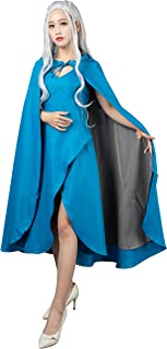 CosFantasy New Daenerys Targaryen Cosplay Costume Blue Dress mp004499
