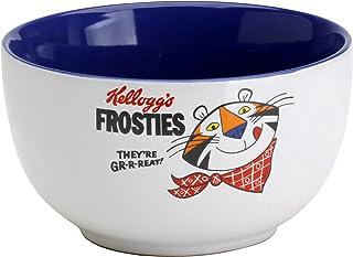 Kellogg's KG30552 - Cuenco Cereales, cerámica, Blanco, Azul, 14 x 14 x 8 cm