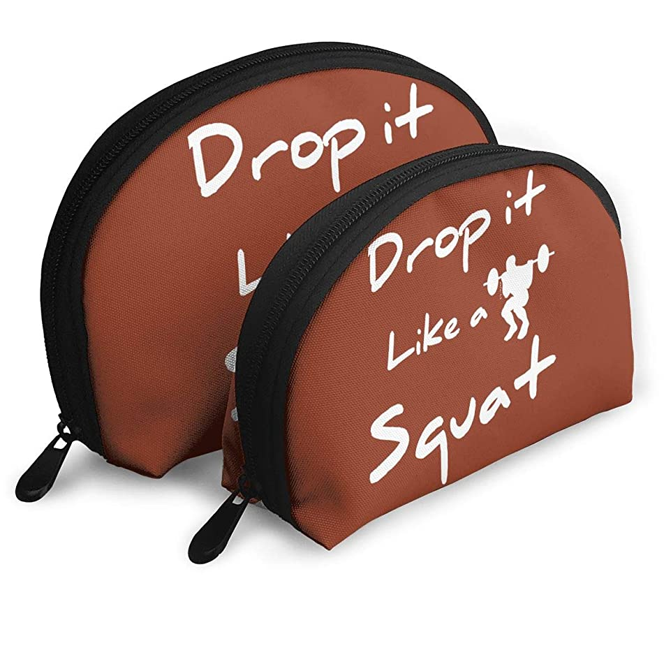 MFILM FVAFN Drop It Like Squat Makeup Storage Bag, Portable Small Shell Clutch Pouch for Women