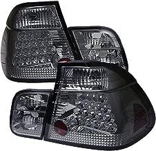 [For 1999-2001 BMW E46 3-Series Sedan] VIPMOTOZ Premium LED Tail Light Lamp - Chrome Housing, Smoke Lens, Driver & Passenger Side
