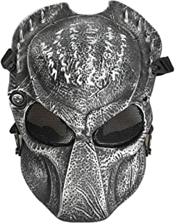 JFFCESTORE Airsoft Full Face Protective Mask with Google and Seamless Headscarf Tactical Masks Gear for t Paintball Outdoor Cs War Game BB Gun Ghost Halloween Party Mask