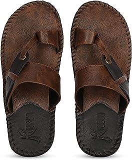 Kraasa Beige Slippers for Men