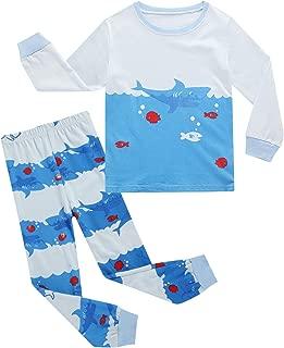 BIBNice Boys Cotton Pajamas Toddler Long Sleeve Kid Sleepwear Sets 18M-7T