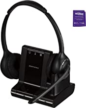 Plantronics Savi W720 Wireless Headset Bundled with Headset Advisor Wipe (Renewed)