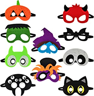 Animal Mask Theme Birthday Party Costumes Cosplay Supplies for Kids 10 Pcs Masquerade Felt Mask Dress-Up Supplies for Boys...