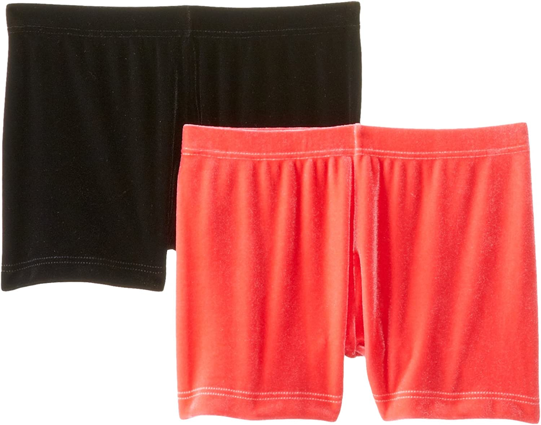 Clementine Big Girls' Plush Velvet BoyCut Shorts 2Pack