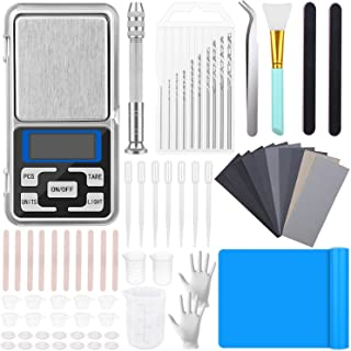 170 Pcs Resin Tool Starter Kit, Shynek Epoxy Resin Tools Supplies with Silicone Sheet, Resin Drill, Sandpapers, Digital Po...