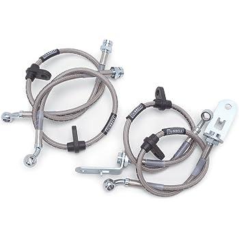 Pro Braking PBR7273-CLR-SIL Rear Braided Brake Line Transparent Hose /& Stainless Banjos