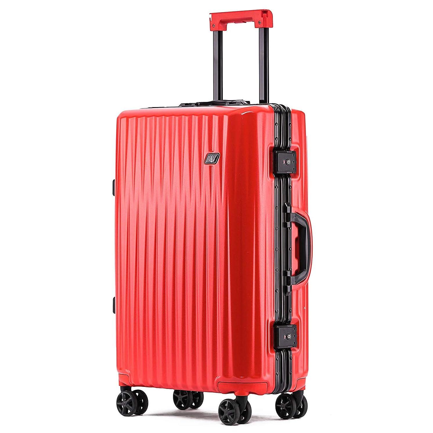 慢義務的スラッシュボンイージ(bonyage) スーツケース アルミフレーム 耐衝撃 キャリーケース 機内持込 キャリーケース 軽量 キャリーバッグ 人気 大型 TSAロック付き 静音 旅行出張 サメの歯形 1年保証