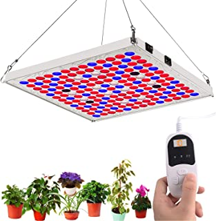 TOPLANET 【$19.99 Price】 LED Grow Lights for Indoor Plants with Timer, 75W Full Spectrum Plant Growing Lamp with IR Bulbs for Hydroponics Grow Box Greenhouse Veg and Flowers Seedlings Bloom