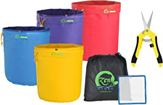 iPower 1 Gallon Bubble Bag Herbal Ice Hash Essence Extractor Kit Free Carrying & Pressing Screen,