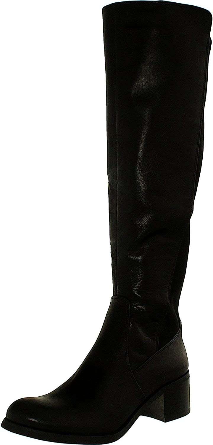 Vince Camuto Women's Francel Leather Neopren Knee-High Leather Boot