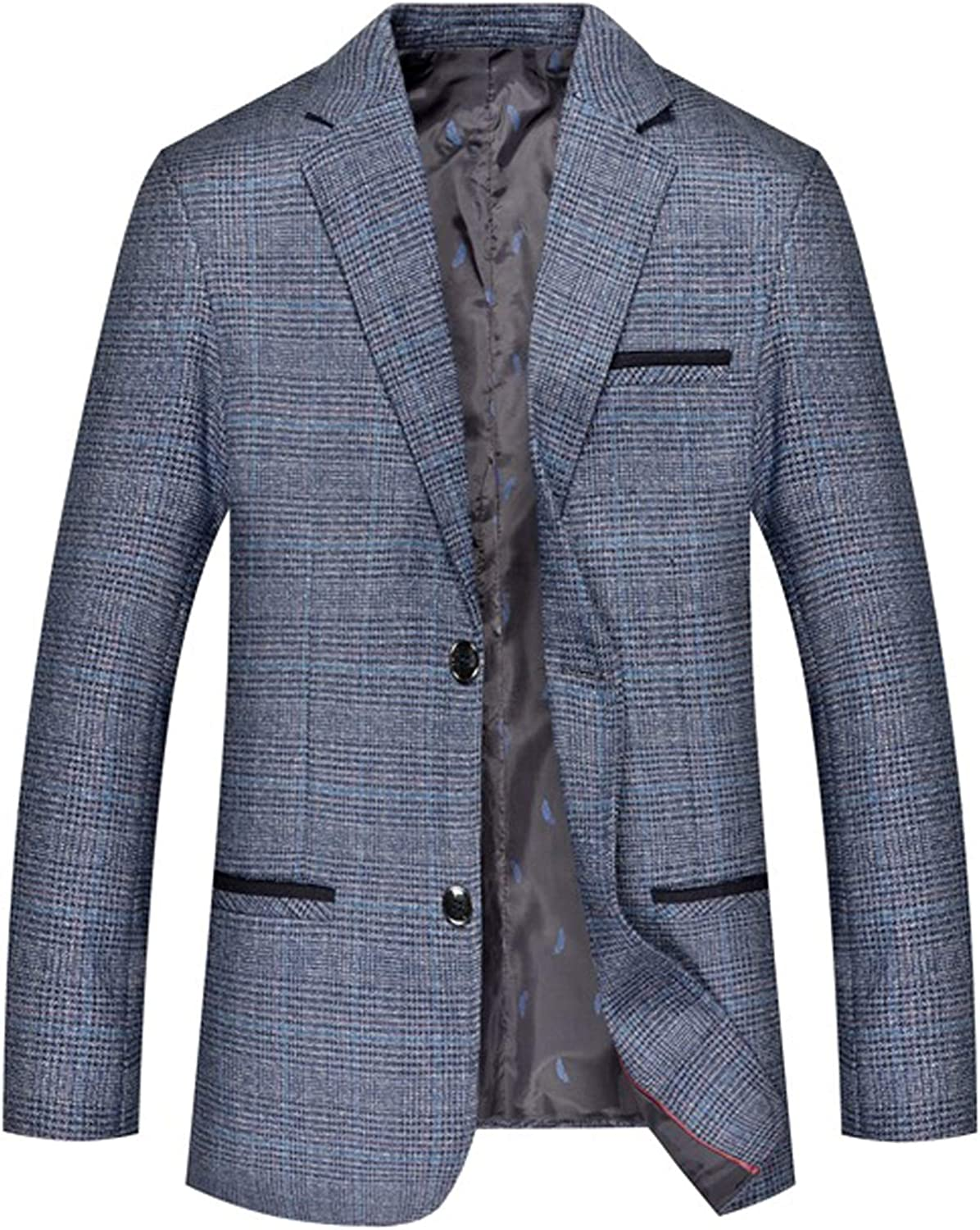 Mens Blazer Classic Fit Casual Sports Coats Notched Collar 2 Button Business Daily Suit Jacket