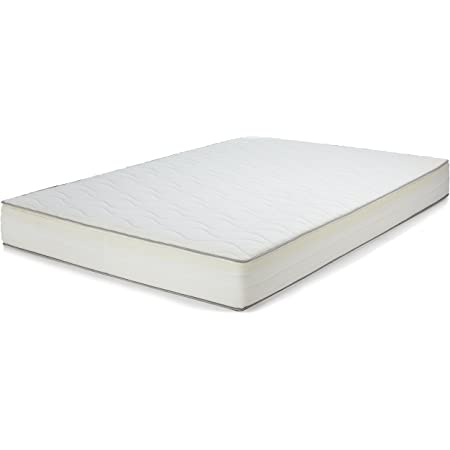 Amazon Basics, Espuma viscoelástica|Algodón|Poliuretano, Blanco, 140 x 200 cm (H2)