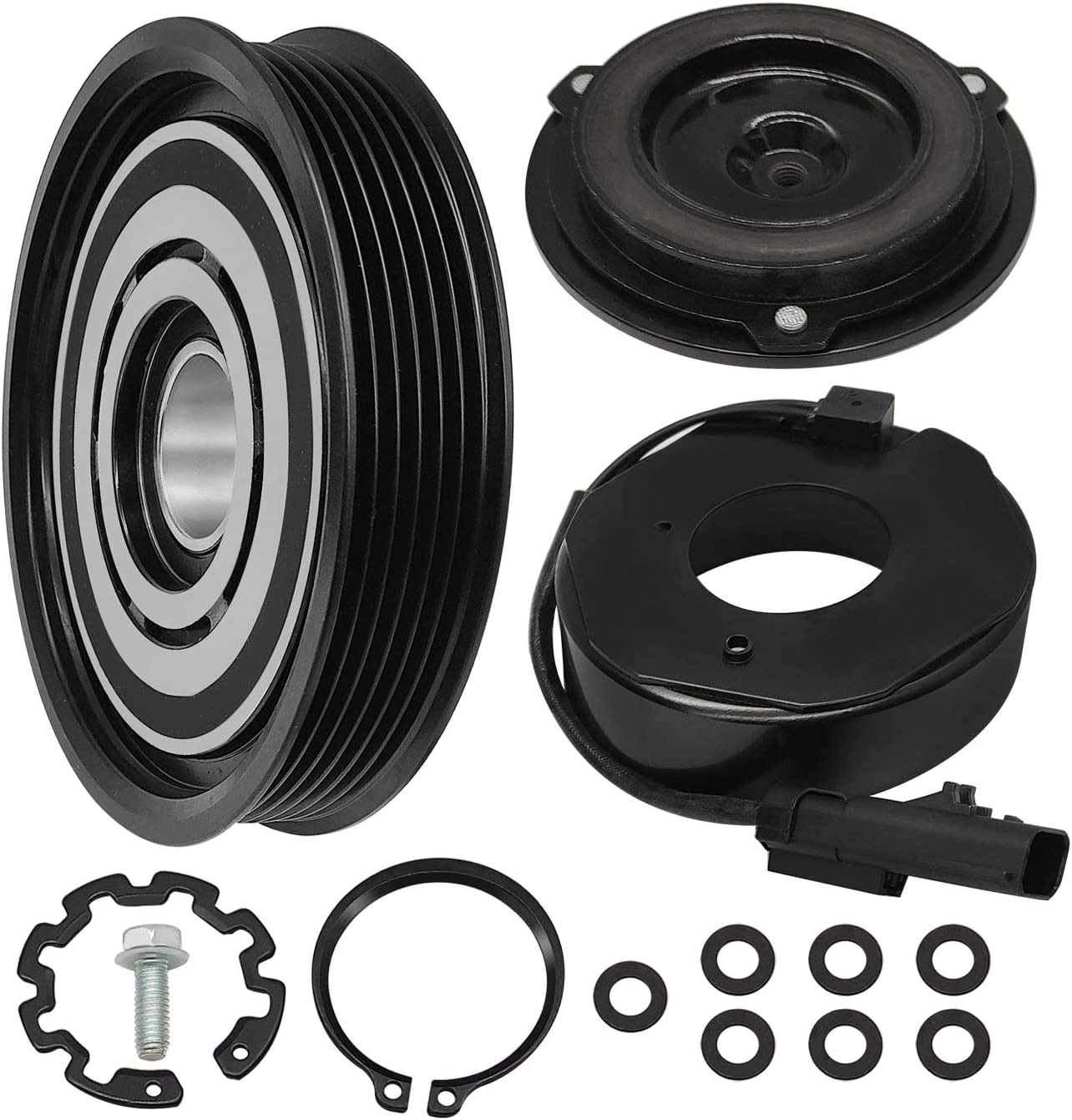 Saihisday AC 2021 autumn and Max 41% OFF winter new Compressor Assembly Clutch Kit