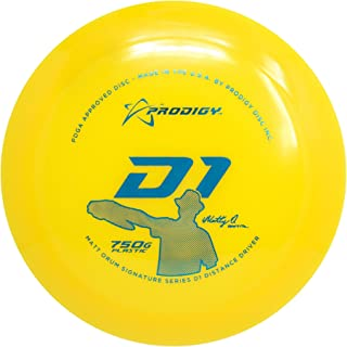 Prodigy Disc Limited Edition Signature Series Matt Orum 750G Series D1 Distance Driver Golf Disc [Colors May Vary]