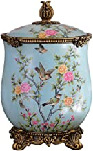 Recycling Bin Trash Can with Lid Ceramics Multifunctional Trash Bin Retro Luxury Storage Garbage Container Decoration Orna...