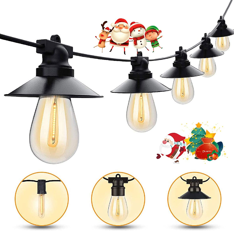 Outdoor メーカー在庫限り品 String Lights 48ft Waterproof LED 売れ筋ランキング