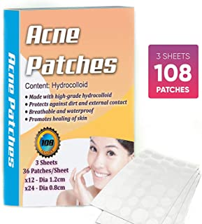 Hydrocolloidal Acne Pimple Patch - Hormonal Acne Treatment for Women, Easy Peel Pimple Sticker, Acne Spot Bandage